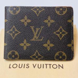 🌟 GENUINE LOUIS VUITTON Monogram Multiple Wallet